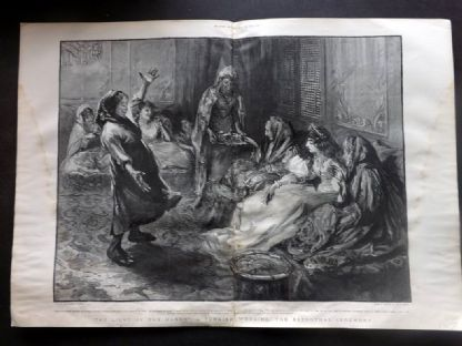 The Graphic 1897 Antique Print. Light of the Harem. A Turkish Wedding Turkey